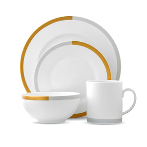Vera Wang Wedgwood Vera Castillon Gold/Gray 4-Piece Place Setting