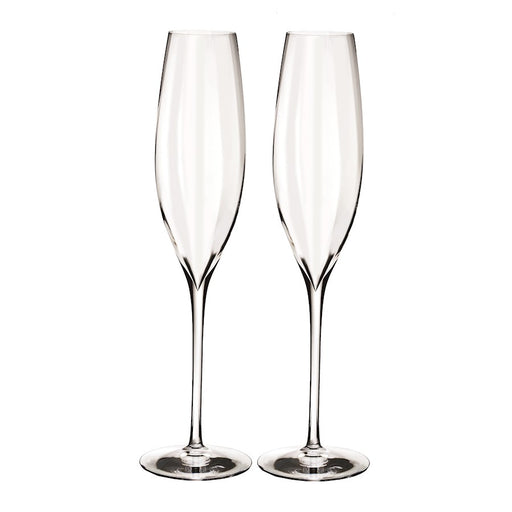 Waterford Crystal Elegance Optic Classic Champagne Flute Set/2