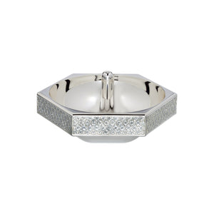 Waterford Lismore Diamond Silver Ring Holder