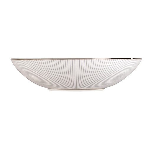 Jasper Conran at Wedgwood Blue P in Stripe Soup Bowl