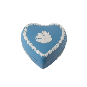 Wedgwood Jasperware Heart Box Pale Blue