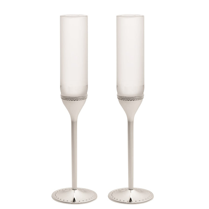 Vera Wang Wedgwood Grosgra in Toasting Flute in Pair
