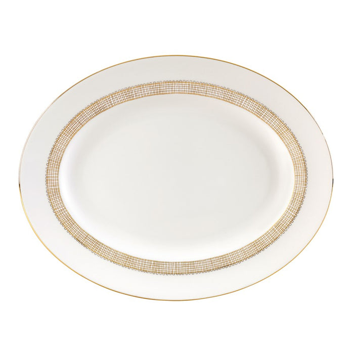 Vera Wang Wedgwood Gilded Weave Oval Platter