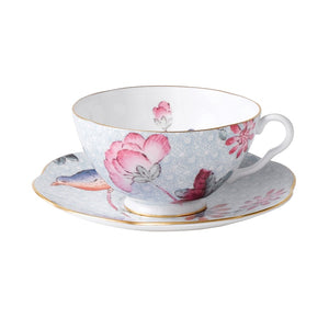 Wedgwood Cuckoo Blue Teacup and Saucer