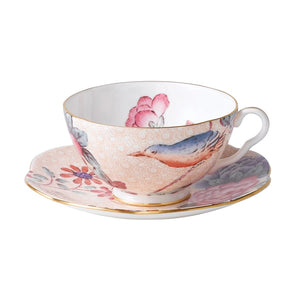 Wedgwood Cuckoo Peach Teacup and Saucer