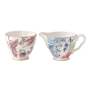 Wedgwood Butterfly Bloom Creamer and Sugar