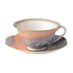 Wedgwood Butterfly Bloom Blue Peony Teacup and Saucer