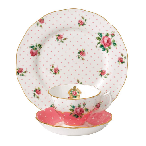 Royal Albert Cheeky Pink Vintage 3-Piece Place Setting