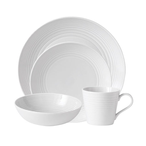 Gordon Ramsay by Royal Doulton Maze White 4-Piece Place Setting