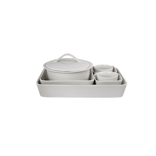 Gordon Ramsay by Royal Doulton Maze White 7-Piece Bakeware Set