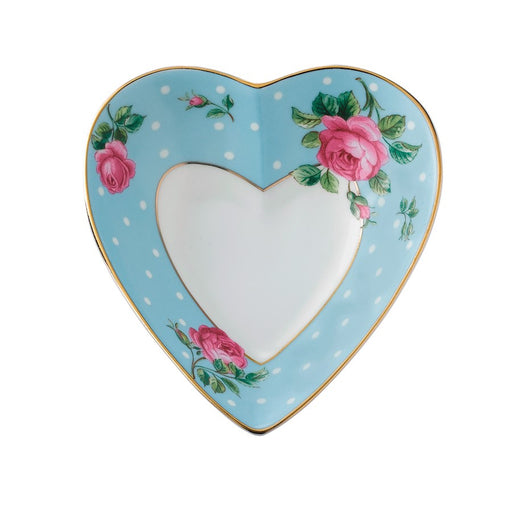 Royal Albert Polka Blue Heart Tray