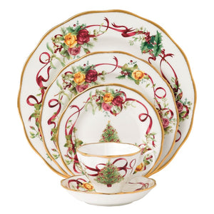 Royal Albert Old Country Roses Christmas Tree 5-Pc Place Setting
