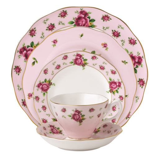 Royal Albert New Country Roses Pink Vintage 5-Piece Place Setting
