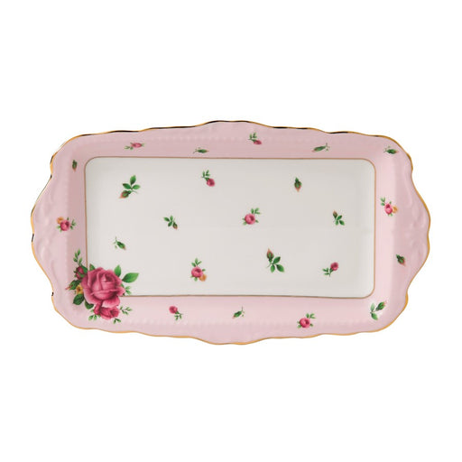 Royal Albert New Country Roses Pink Vintage Sandwich Tray