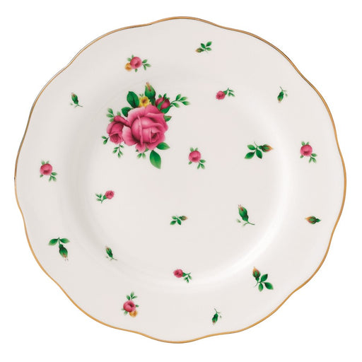 Royal Albert New Country Roses White Vintage Salad Plate