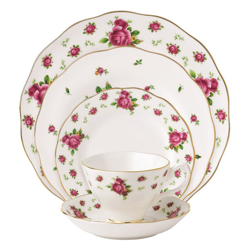 Royal Albert New Country Roses White Vintage 5-Piece Place Setting