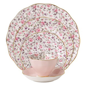 Royal Albert Rose Confetti Vintage 5-Piece Place Setting