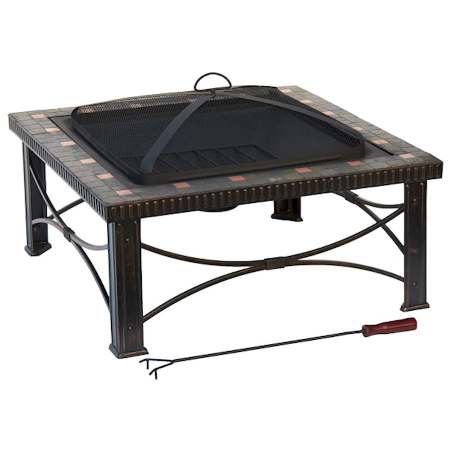 "AZ Patio Heaters 30"" Slate Tile Fire Pit - FTB-51161B"