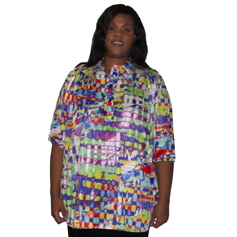 Frankenstorm 3/4 Sleeve Pullover Women's Plus Size Top