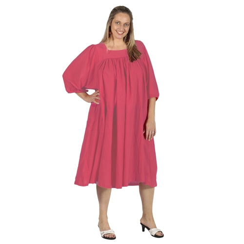 Strawberry Cotton Gauze Float Dress Women's Plus Size Dress