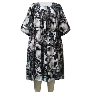 Black & White Blossom Dress Women's Plus Size Dress