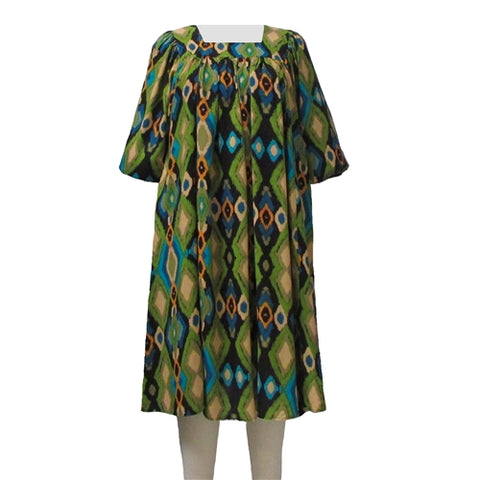 Green Diamonds Float Dress Women's Plus Size Dress