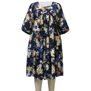 Navy Botanic Dress Women's Plus Size Dress