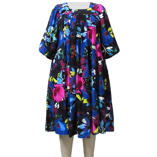 Vibrant Blossom Float Dress Women's Plus Size Dress