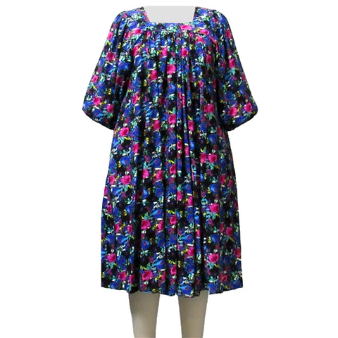 Vibrant Floral Garden Dress Women's Plus Size Dress