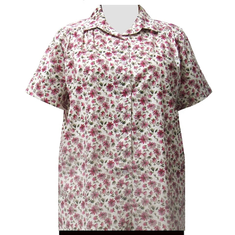 Bella Short Sleeve Tunic with Shirring Women's Plus Size Blouse