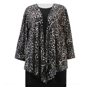 Leopard Drape Cardigan Sweater Women's Plus Size Cardigan