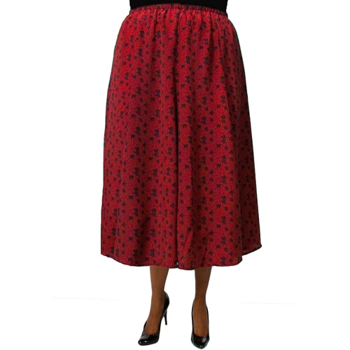 Delilah Red 8-Gore Plus Size Skirt
