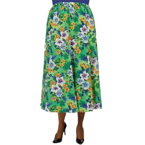 Green Hawaii 8-Gore Plus Size Skirt