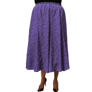 Mila Purple 8-Gore Plus Size Skirt