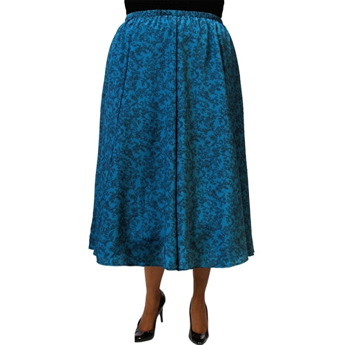 Mila Teal 8-Gore Plus Size Skirt