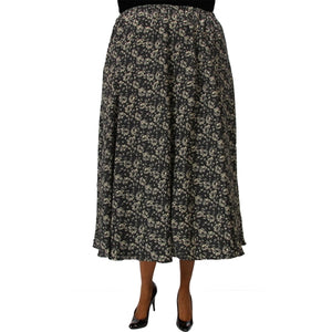 Sigrid Black 8-Gore Plus Size Skirt