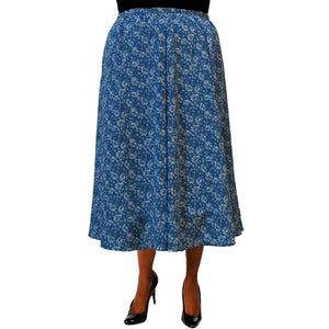 Sigrid Teal 8-Gore Plus Size Skirt