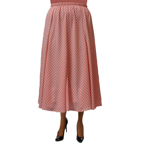 Pink Dots 8-Gore Plus Size Skirt