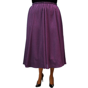 Plum Diamonds 8-Gore Plus Size Skirt