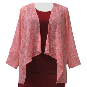 Peach Etchings Open Front Cardigan Women's Plus Size Cardigan