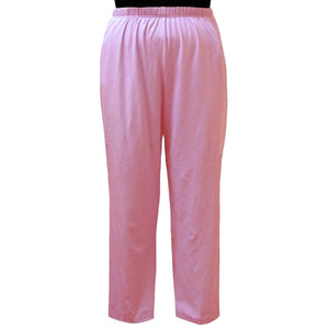 most desirable fashion hot-selling discount hot-selling professional Pink Cotton Knit Pull-On Pant Women's Plus Size Pant