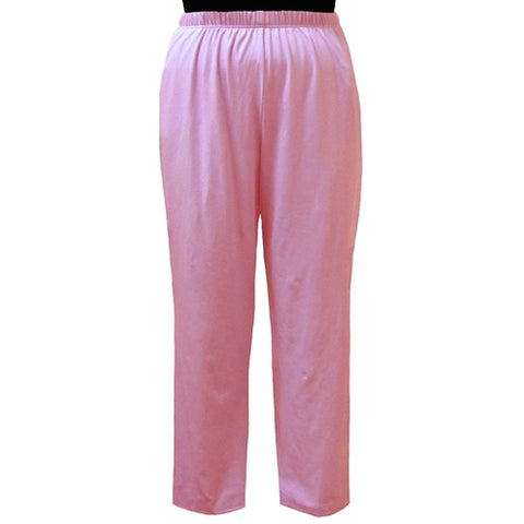 Pink Cotton Knit Pull-On Pant Women's Plus Size Pant