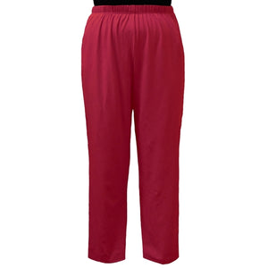 Red Cotton Knit Pull-On Pant Women's Plus Size Pant