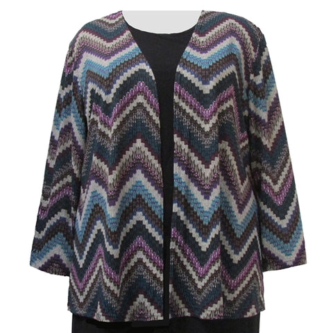 Peacock Chevron Cardigan Sweater Women's Plus Size Cardigan
