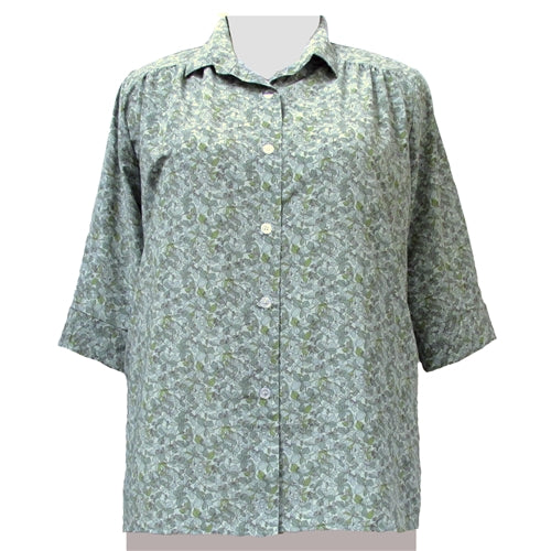 Sage Stella 3/4 sleeve tunic with shirring Women's Plus Size Blouse
