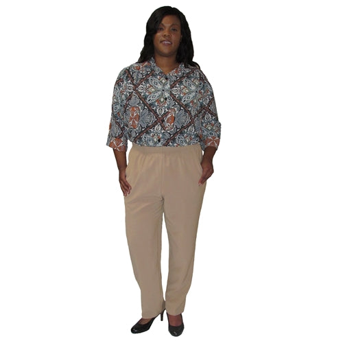 Khaki Viviana Shaped Fit Pant