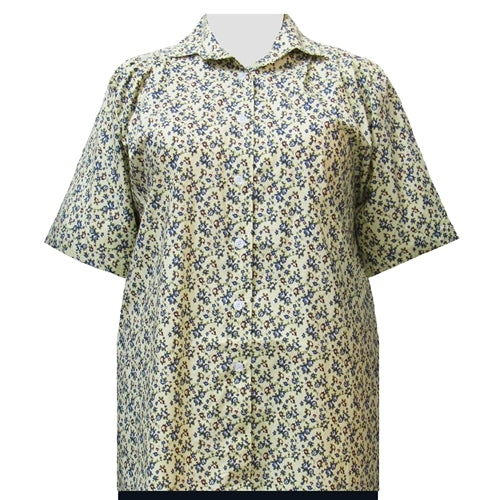 Yellow Prairie Short Sleeve Tunic Women's Plus Size Blouse