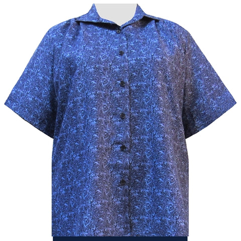 Blue Morrison Short Sleeve Tunic Women's Plus Size Blouse