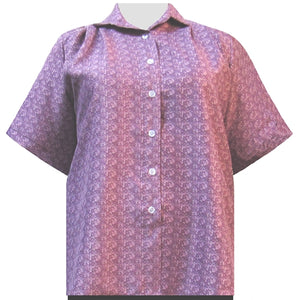 Mauve Cora Short Sleeve Tunic Women's Plus Size Blouse