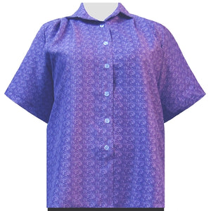 Purple Cora Short Sleeve Tunic Women's Plus Size Blouse